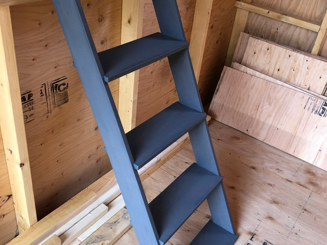 Custom Grey Stained Birch Stairs