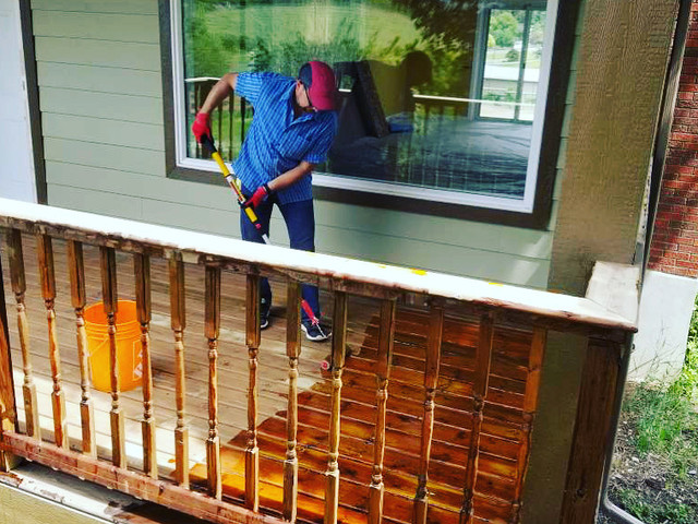 Stripping Old Finish Off a Deck