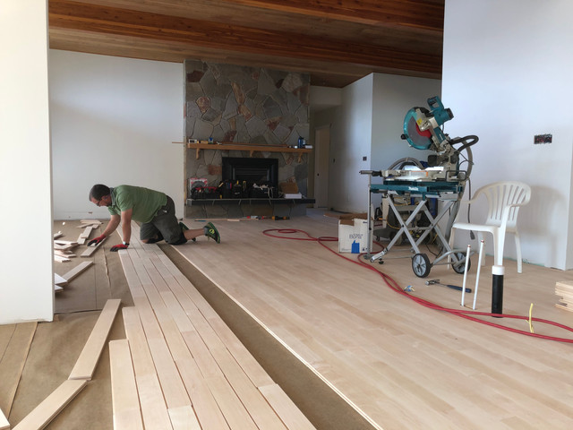 Beautiful Birch Hardwood Floor