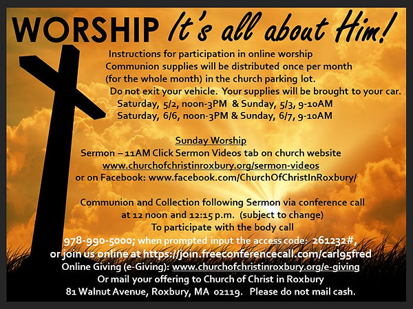 Worship communion and giving instruction