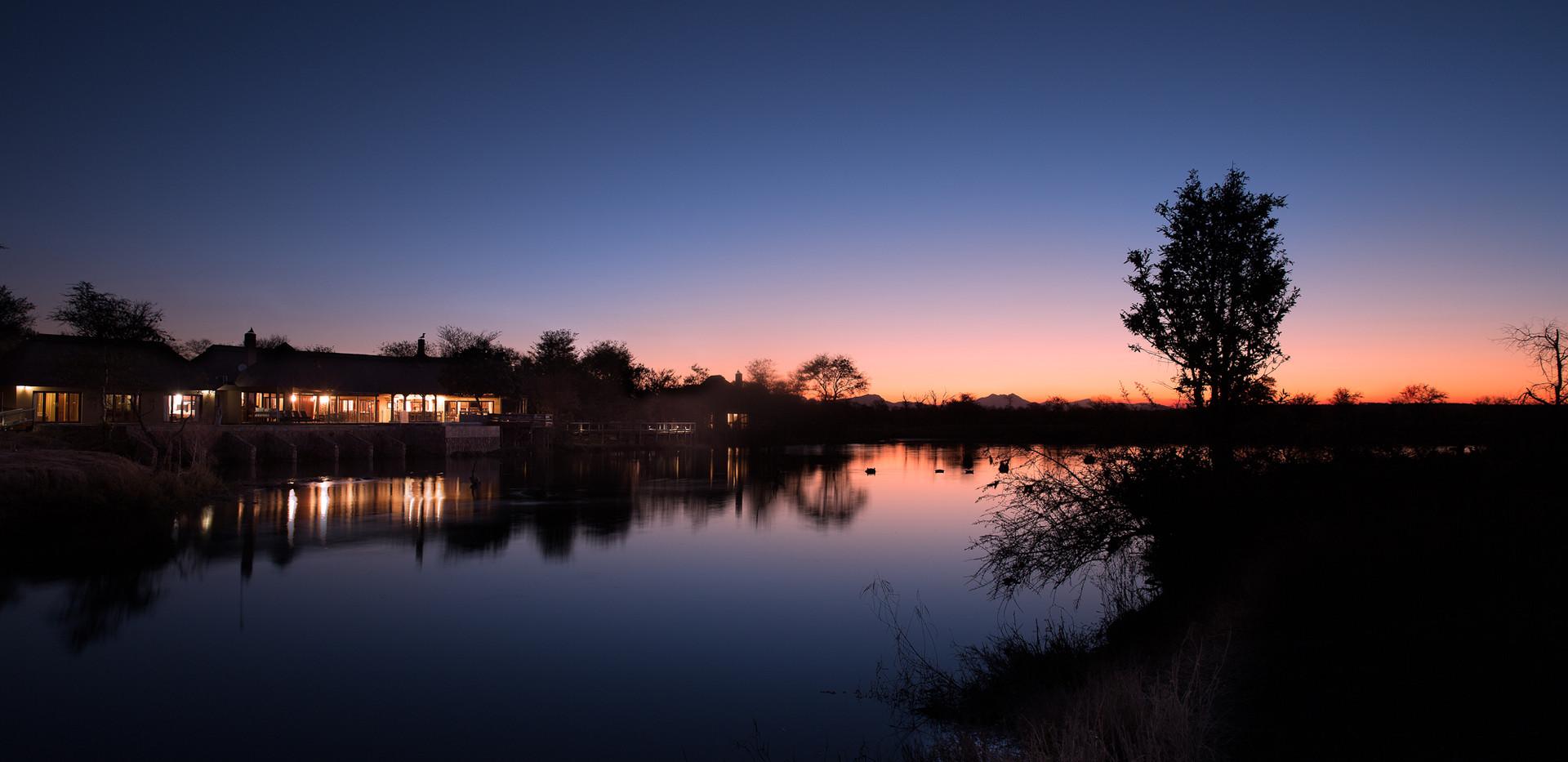 Sunset at Weaver's Nest Lodge