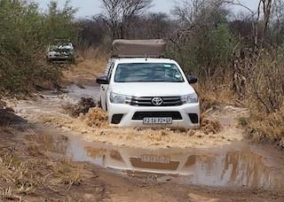 offroading in the Okavango Delta