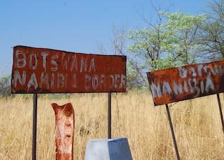 border crossing between Botswana & Namibia