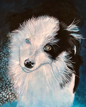 Painting of Susie when she was a puppy