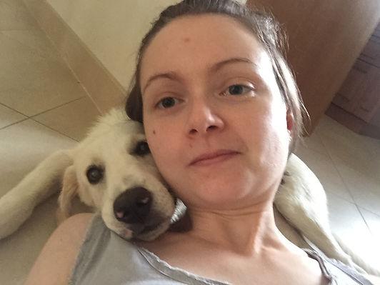 Valentina Teghillo and her dog Lola