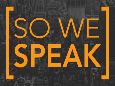 Support So We Speak in 2020!