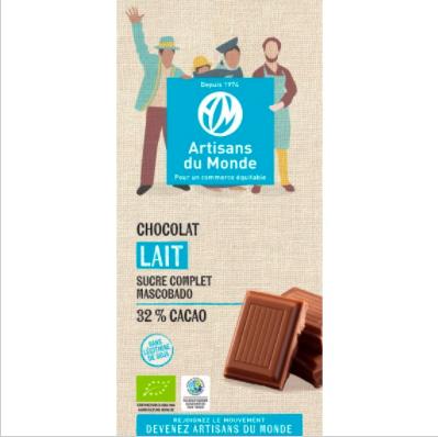 Chocolat biologique au lait - 100gr - Bolivie