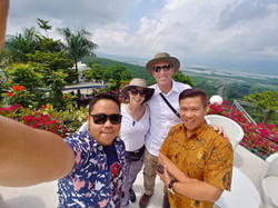 difa tour semarang with guest from ameri