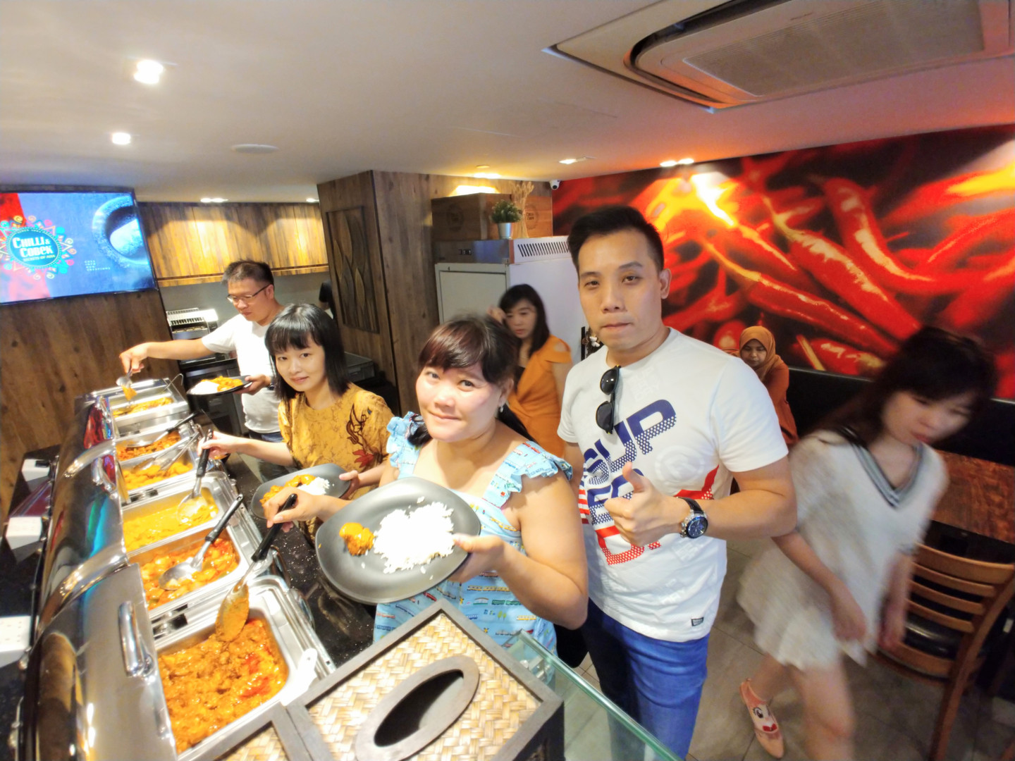 Our Guest enjoying the food.jpg