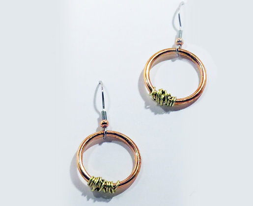 """Admire"" Copper and Brass  Earrings"