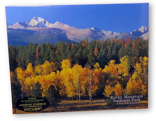 Long Peak in Fall, Colorado Jigsaw Puzzle