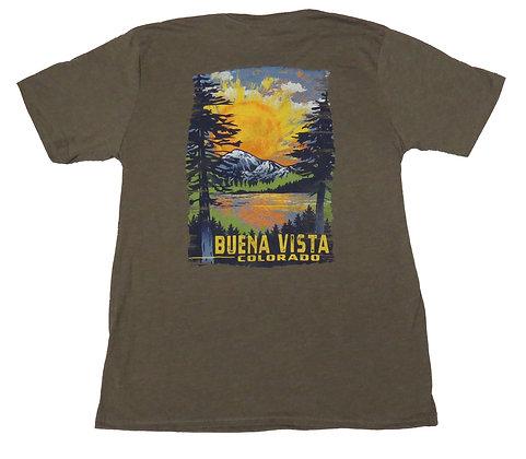 Painted Scenic Sunset Buena Vista T-Shirt