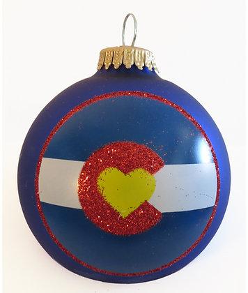 I Love Colorado Christmas Ornament