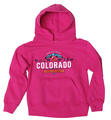 Colorado Adventure Awaits Youth Hoodie