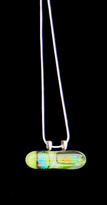 Oblong Glass Infused Pendant
