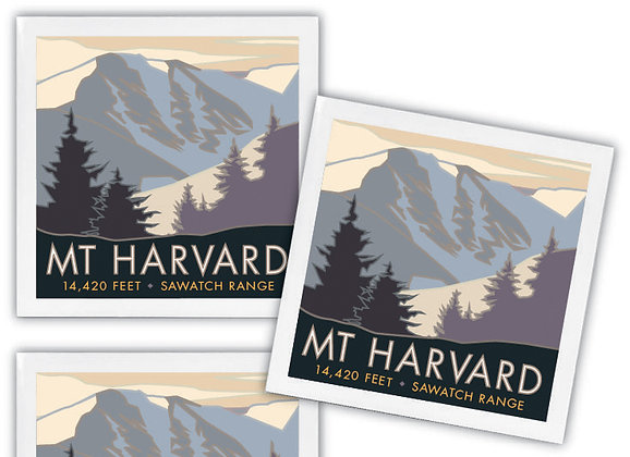 Mt. Harvard Ceramic Coaster