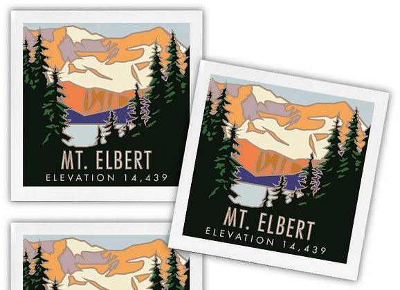 Mt. Elbert Ceramic Coaster