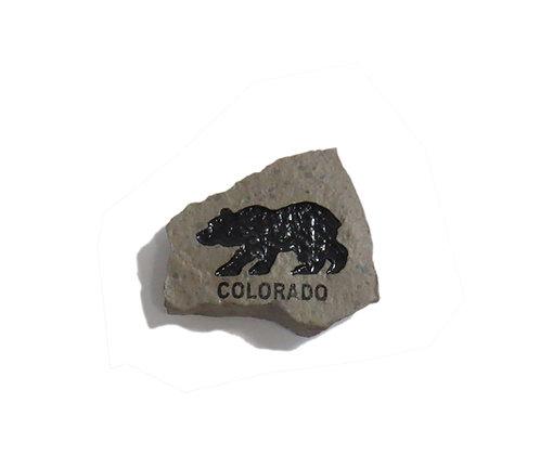 Rock Magnet - Colorado Bear