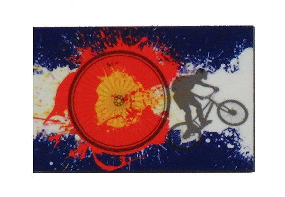 Colorado Flag Biker Magnet