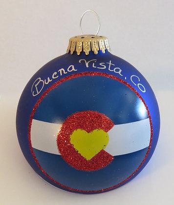 I Love Colorado Christmas Ornament - Buena Vista