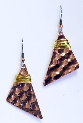"""""""Witty"""" Copper and Brass  Earrings"""