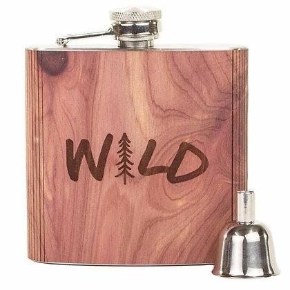 Wood Flask - Wild 6 oz.
