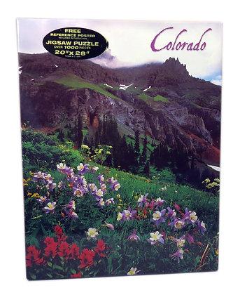 Colorado Columbines/Mountains Jigsaw Puzzle