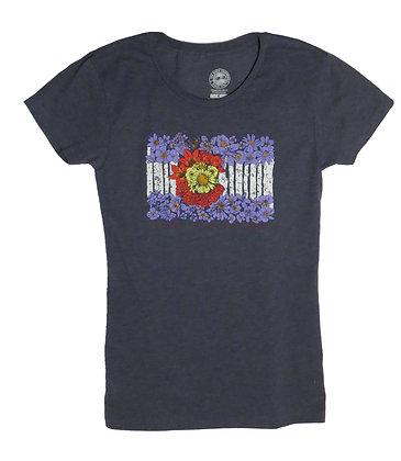 Colorado Wildflower Flag Women's T-Shirt