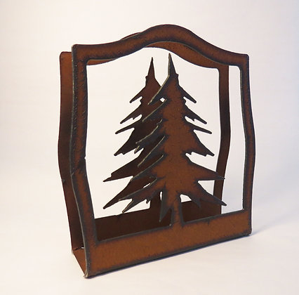 Metal Napkin Holder with Tree Cut-out