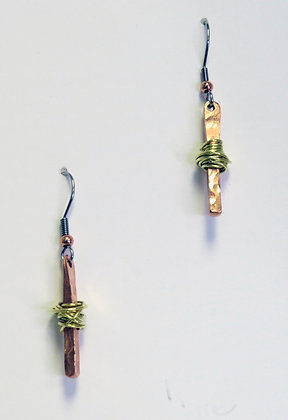 """""""Hope"""" Copper and Brass  Earrings"""