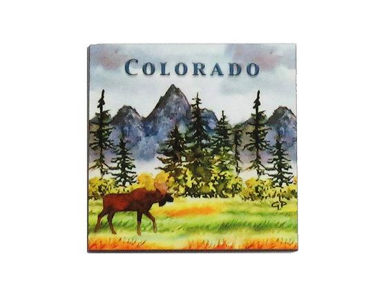 Moose Meadow Colorado Magnet