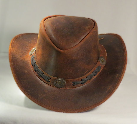 Leather Hat Rough Finish