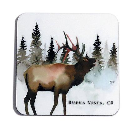 Moose Evergreen Coaster
