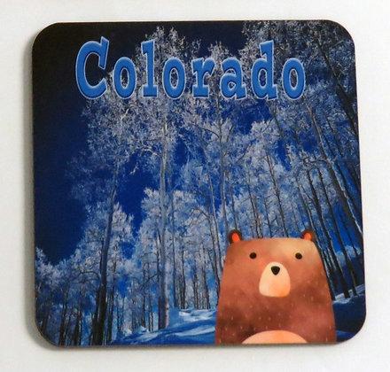 Blue Aspen  Forest Friend Coaster - Colorado