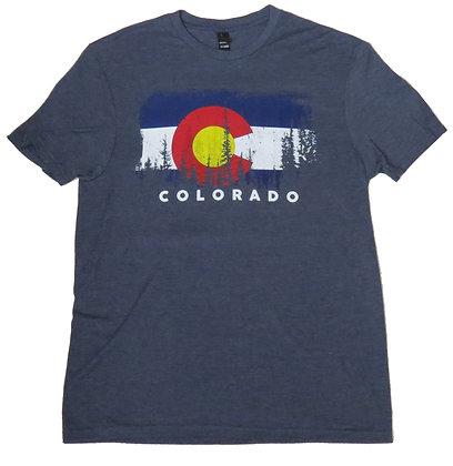 Colorado Flag & Trees T-Shirt