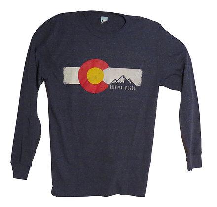 Flag & Mountains LS T-Shirt