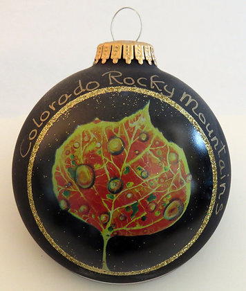 Aspen Leaf Christmas Ornament - Colorado Rocky Mountains