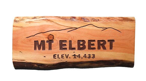 Mt. Elbert Wood Sign