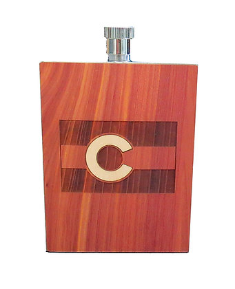 Wood Flask - Colorado Flag - 3oz