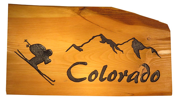 Colorado Mountains and Downhill Skier
