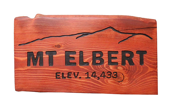 Mt. Elbert Wood Sign