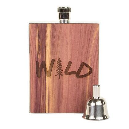 Wood Flask - Wild 3oz