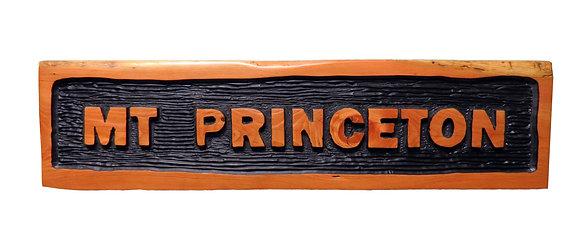 Mt Princeton Inset Sign