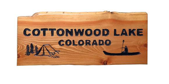 Cottonwood Lake, Kayaker and Tent