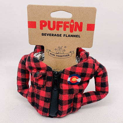 Puffin Red Flannel Beverage Cooler