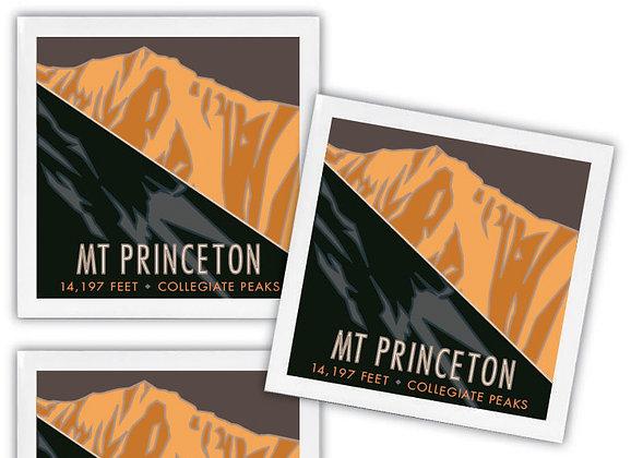 Mt. Princeton Ceramic Coaster