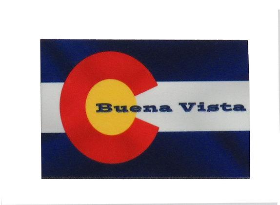 Buena Vista, Colorado Flag Magnet