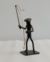 Metal RR Spike Fisherman