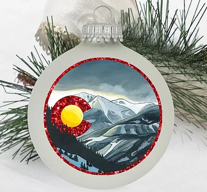 Snowy Colorado Christmas Ornament
