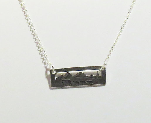 Sterling Silver Momma Bear with Three Cubs Necklace